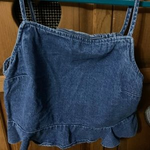 American Eagle Denim Tank Top